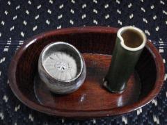 寄付の煙草盆