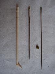 楊枝vs毛糸針vsふとん針