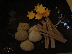 干菓子:栗・紅葉・松葉