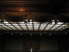 これも傍聴席からの天井