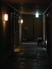 茶室への廊下