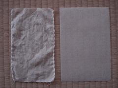 麻布と不織布(紙)と
