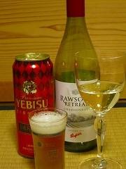 ベンフォールド ローソンズ リトリート シャルドネ2012(酒屋さんのおすすめ)+薫り華やぐエビス